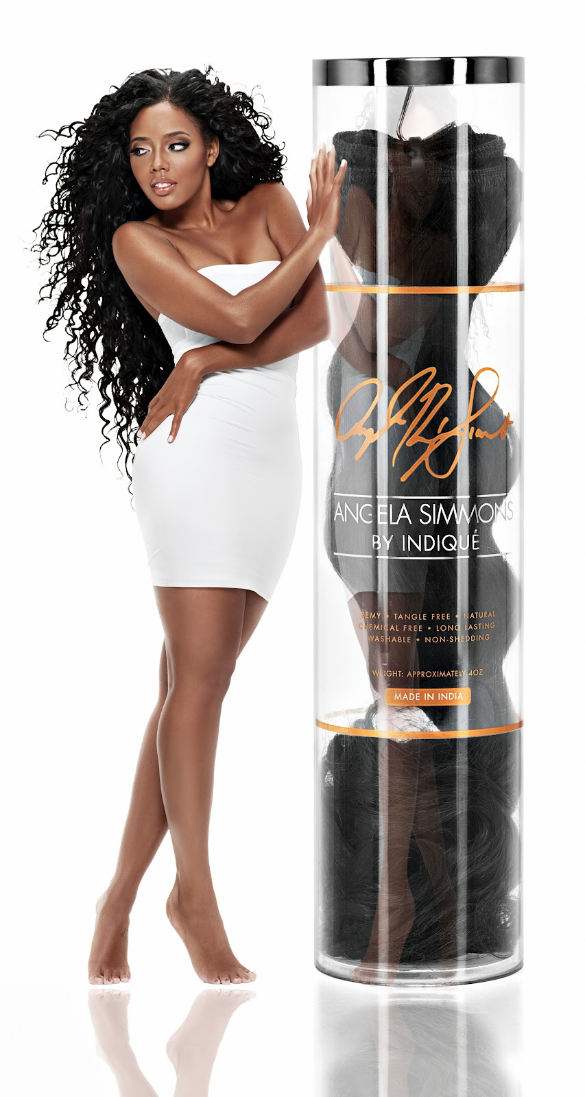 Indiqu Hair Teams Up With Fashion Maven Angela Simmons To Launch