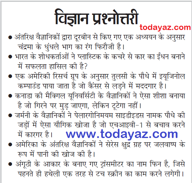 GK QUESTION IN HINDI PDF DOWNLOAD