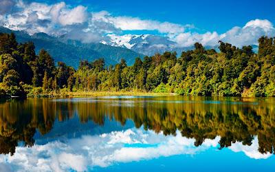 12 fotografías panorámicas de paisajes naturales (escenarios del campo)