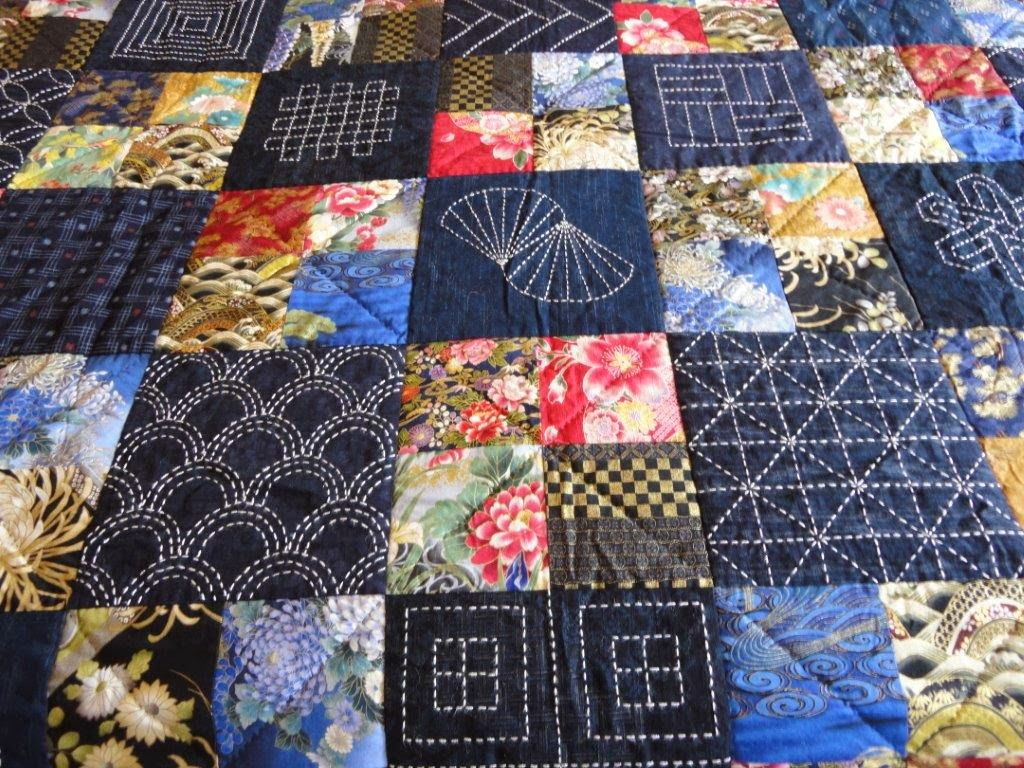 Sashiko Quilting Patterns : Wendy s quilts and more: My Sashiko Quilt