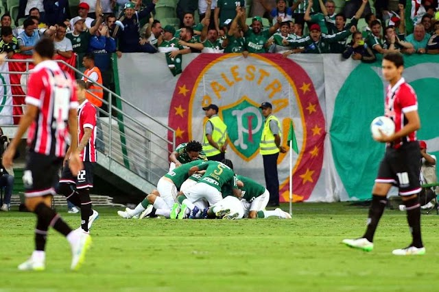 Ceni caça borboletas, Robinho faz golaço e Palmeiras atropela rival