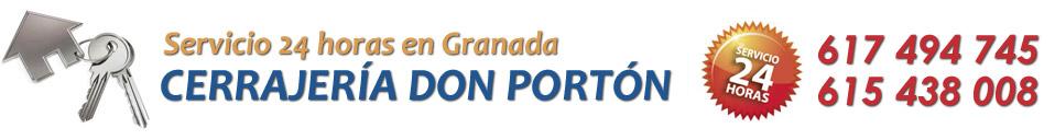 CERRAJEROS EN GRANADA - 617 494 745 - CERRAJERÍA EL PORTÓN