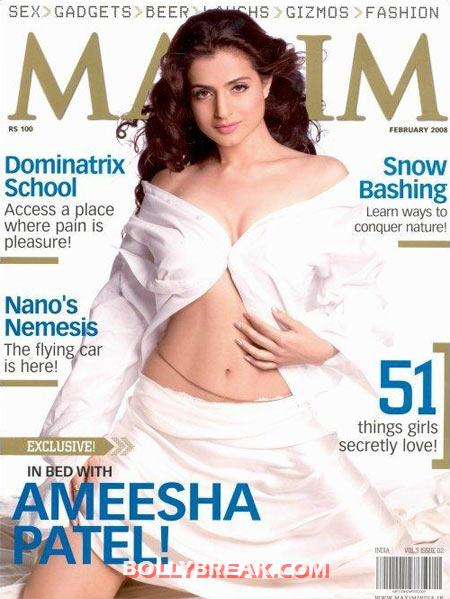 Ameesha Patel on the cover of Maxim magazine - (3) - Ameesha Patel's Hottest Magazine Covers 