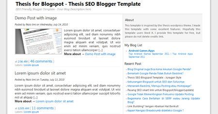 thesis templet