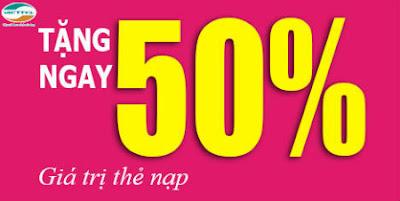 Viettel khuyến mãi 50% nạp thẻ trong ngày 29, 30/9/2015