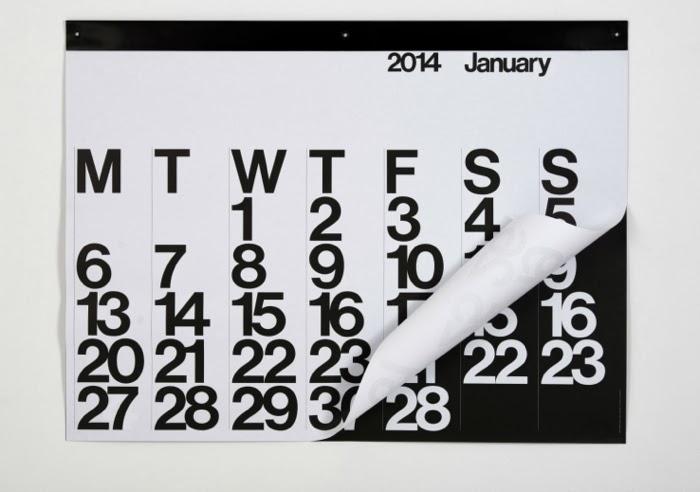 Stending calendar 2014 by Massimo Vignelli