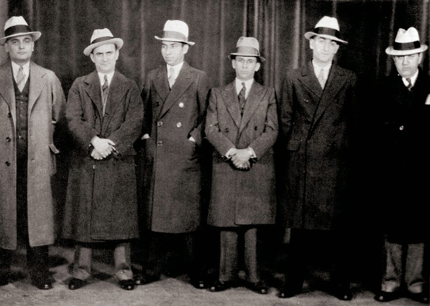 Mafia, Mob, Mobsters, Cose Nostra, Famous Mafia Pictures, Iconic Mafia Pictures, Charles Luciano, Lucky Luciano, Meyer Lansky