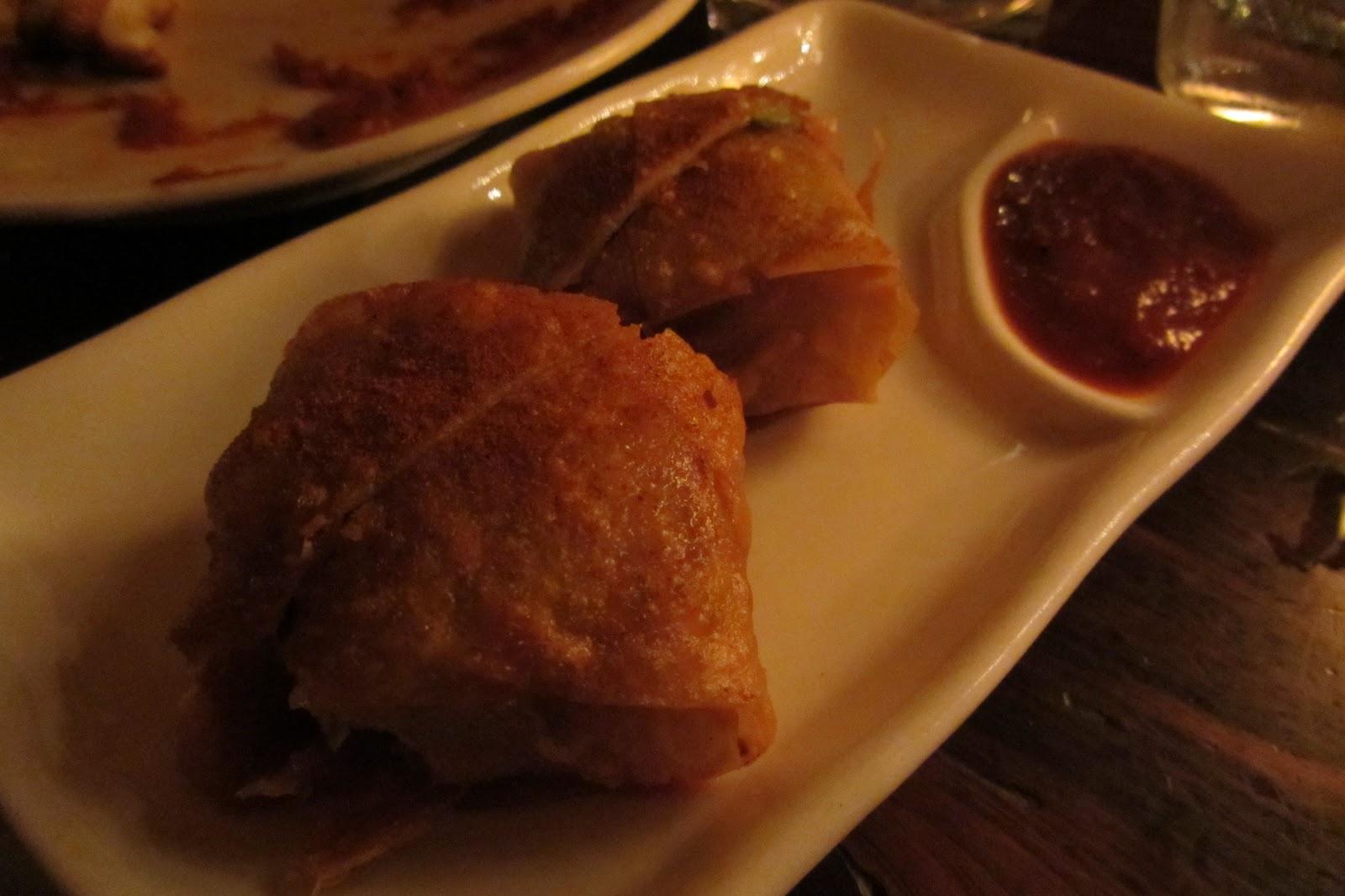 ... Yufka Pastry (mahon cheese, pickle relish, spiced ketchup) at Alta