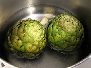 Artichokes Being Cooked photo by Pepperedjane