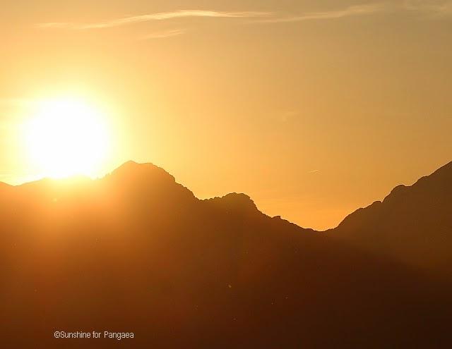 sonnenuntergang im toten gebirge in Österreich
