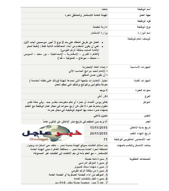 """وظائف الحكومة المصرية لخريجى """" تجارة واقتصاد ونظم معلومات """" بالمحافظات ذكور واناث"""