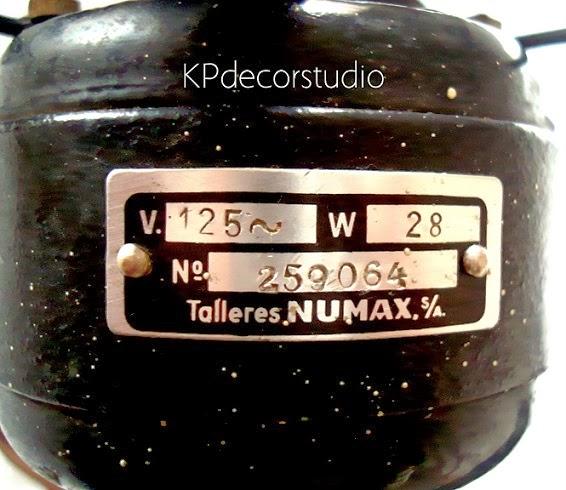 Ventiladores antiguos numax numero de serie 259064