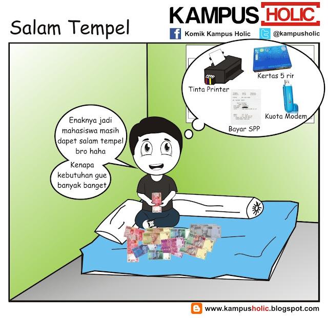 #229 Salam Tempel, Lebarannya mahasiswa komik kampus holic bro..