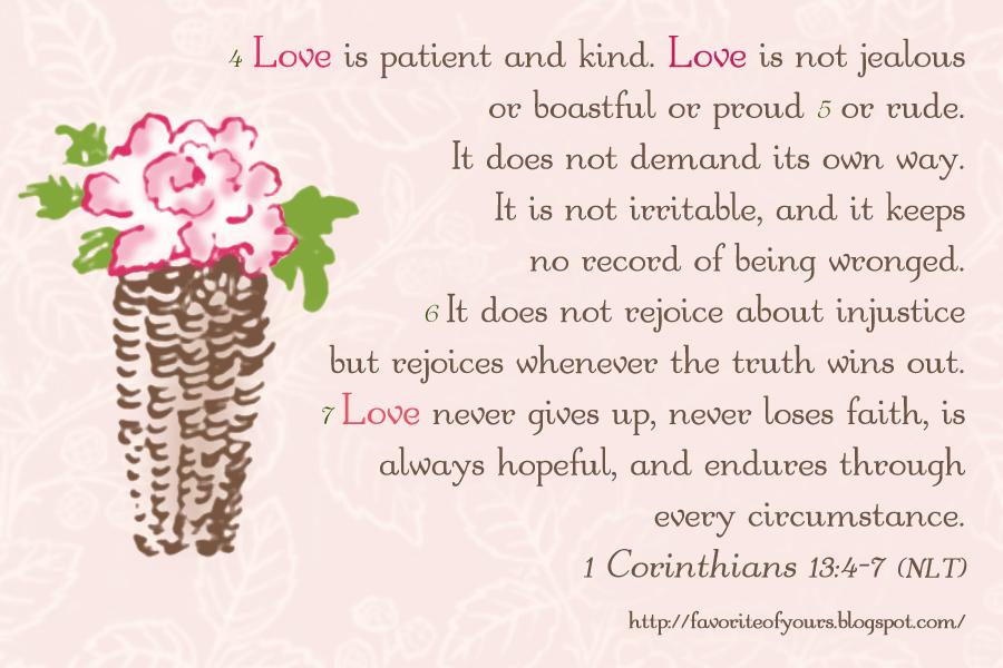 Corinthians Niv 1 13 1 Corinthians 13:4-7