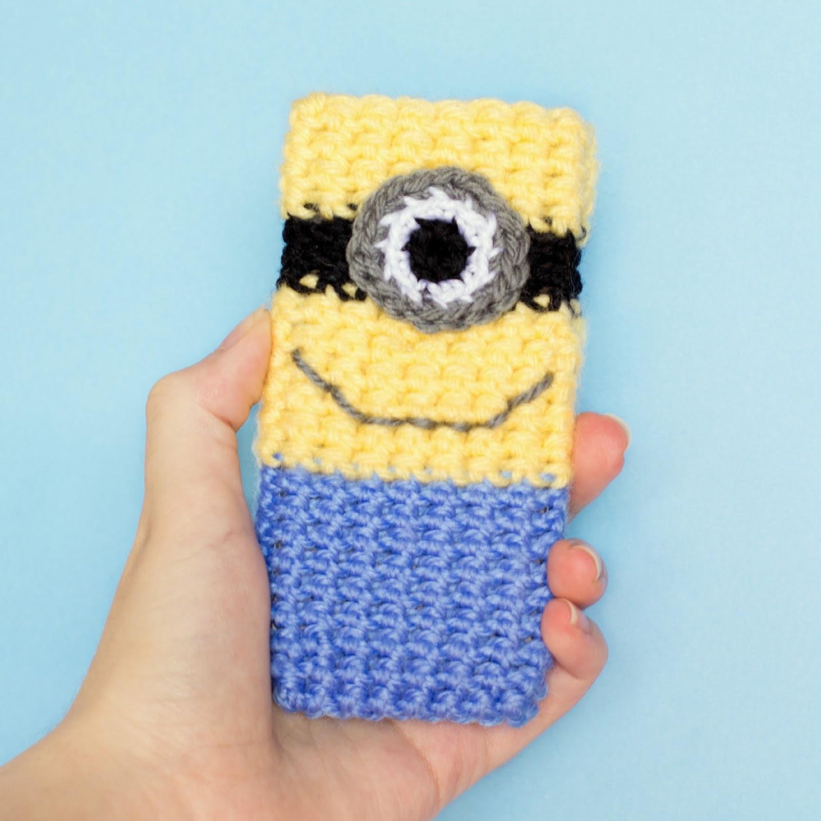 Free Crochet Pattern Phone Case : Hopeful Honey Craft, Crochet, Create: Minion Inspired ...