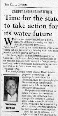 Time for the state of Georgia to take action for its water future by Werner Braun