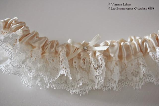 belle jarretière mariée originale style de lingerie glamour et sexy de qualité . Jarretière cousu main made in france