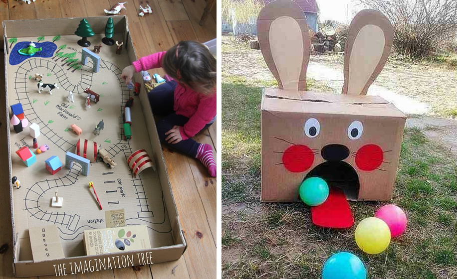juegos con cajas de cartn para nios