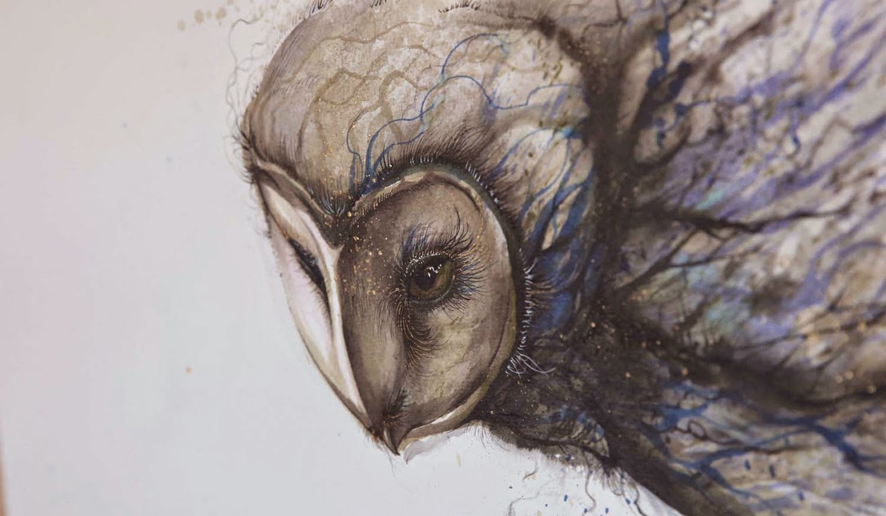 Simply Creative New Splattered Ink Animal Paintings By