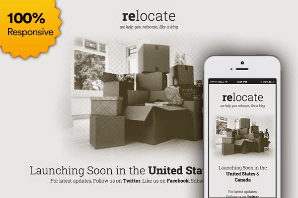 Free Coming Soon Template: Relocate