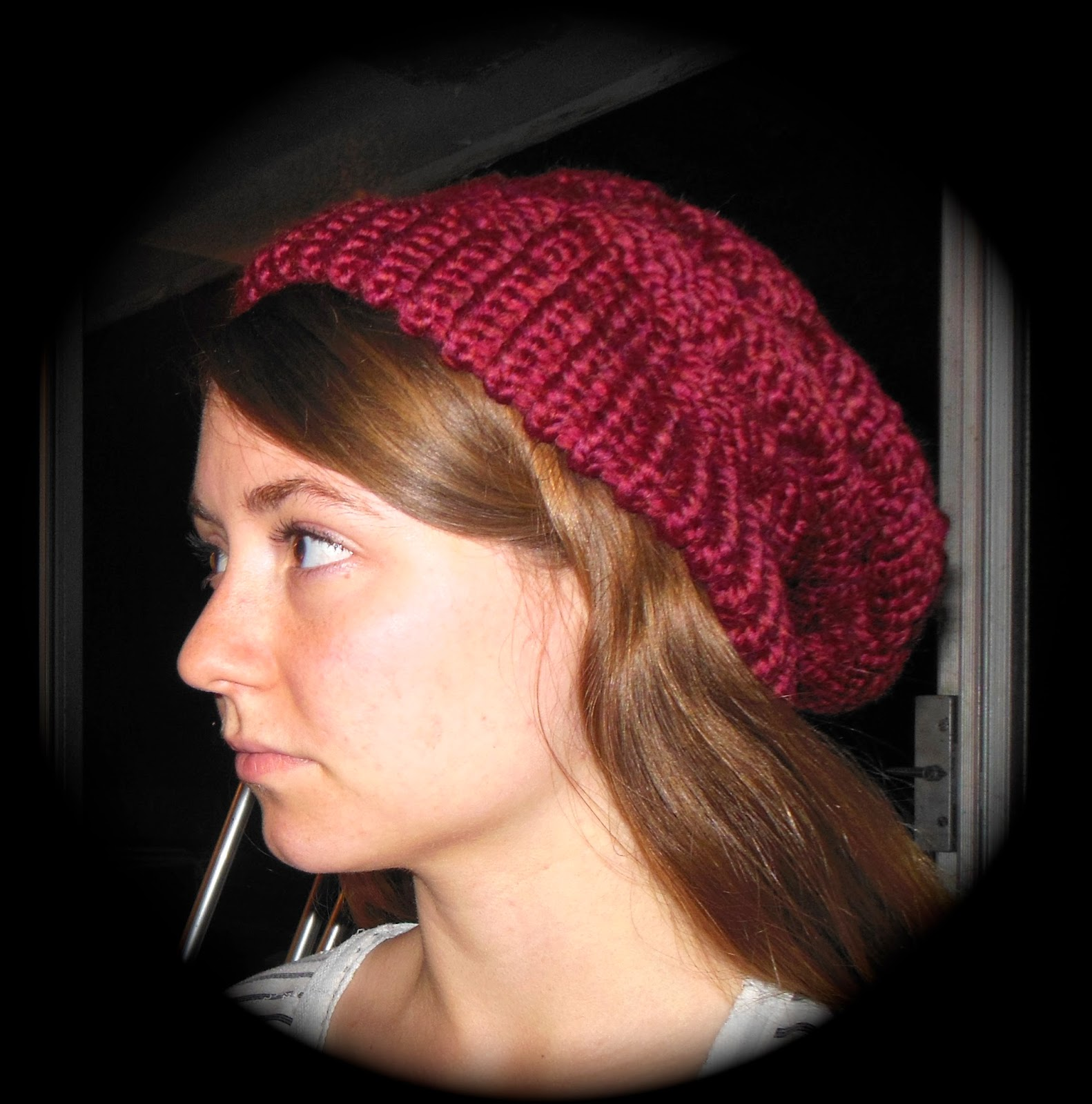 How To Loom Knit A Basket Weave Hat : Kate and fleet loom knitting slouchy basket weave beanie
