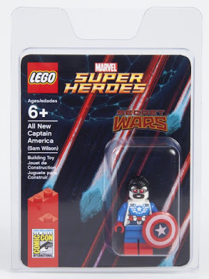 San Diego Comic-Con 2015 Exclusive Marvel Secret Wars Sam Wilson Falcon Captain America LEGO Mini Figure