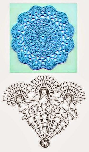 Hermosa carpeta tejida al crochet