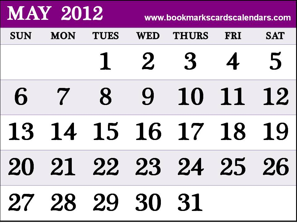 ... 2015, Bookmarks, Cards: Calendar 2012 May monthly template - 2