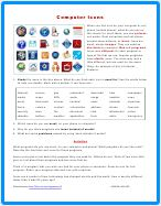 Computer Icon Worksheet PDF