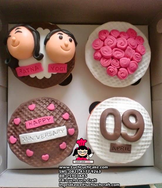 Cupcake Anniversary Daerah Surabaya - Sidoarjo
