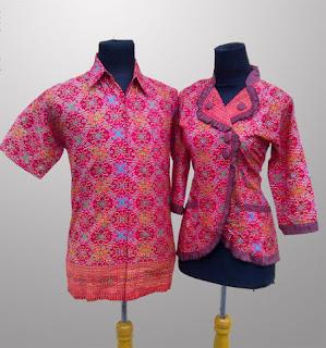Foto Baju Batik Couple Kerja