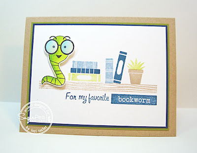 My Favorite Bookworm card-designed by Lori Tecler/Inking Aloud-stamps from SugarPea Designs