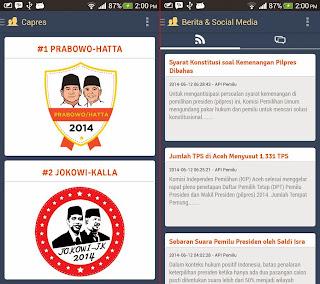 Aplikasi Android untuk Memantau Pemilu Presiden Indonesia 2014