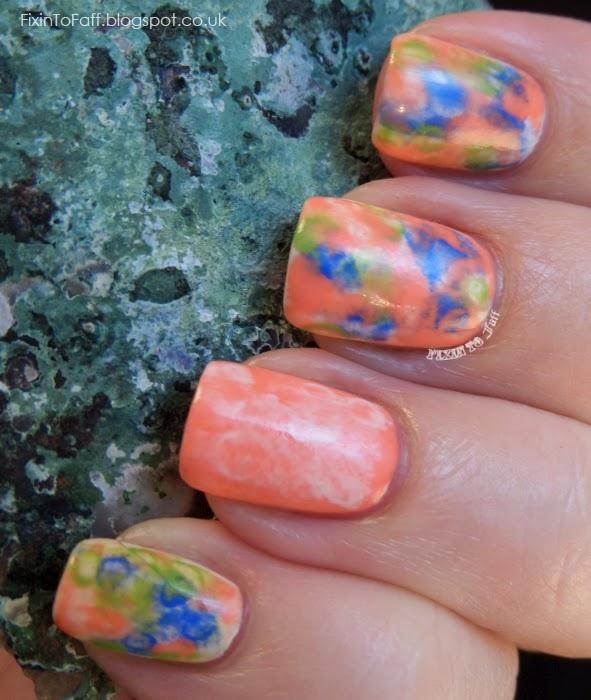 Watercolor Skittlette nail art