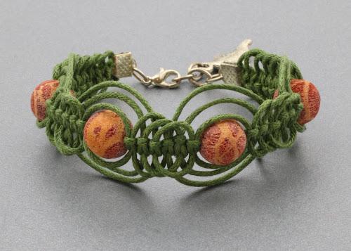 bransoletka ze sznurkiem woskowanym bawełnianym