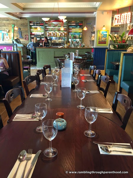 Spacious and well laid out interiors at Bella Italia