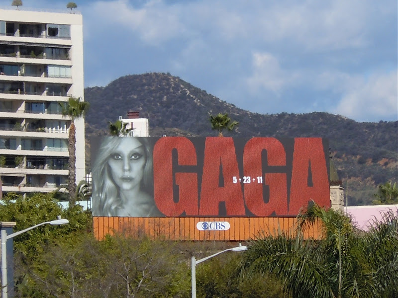 Lady Gaga billboard WEHO
