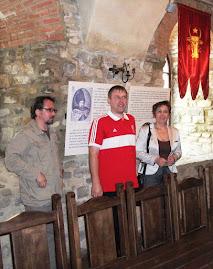 Lector univ. dr. Liviu Pilat, muzeolog Lucian Uţă şi insp. Prof. Elena Preda, Zilele Cetăţii Neamţ,