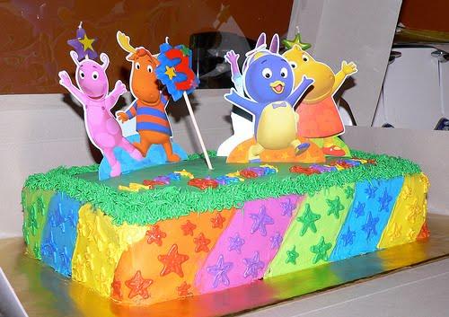 Backyardigans birthday cake birthday cake cupcake for Backyardigans party decoration