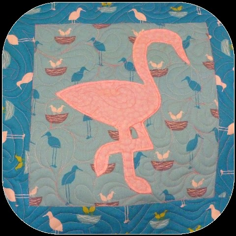 CHQuilts: pink flamingo quilt sample