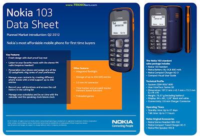 HP Nokia  Termurah  Keluaran Baru Rp 192 ribu  Nokia 103
