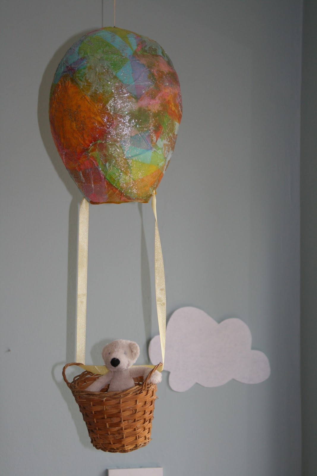 paper mache hot air balloon for oral storytelling the imagination tree. Black Bedroom Furniture Sets. Home Design Ideas