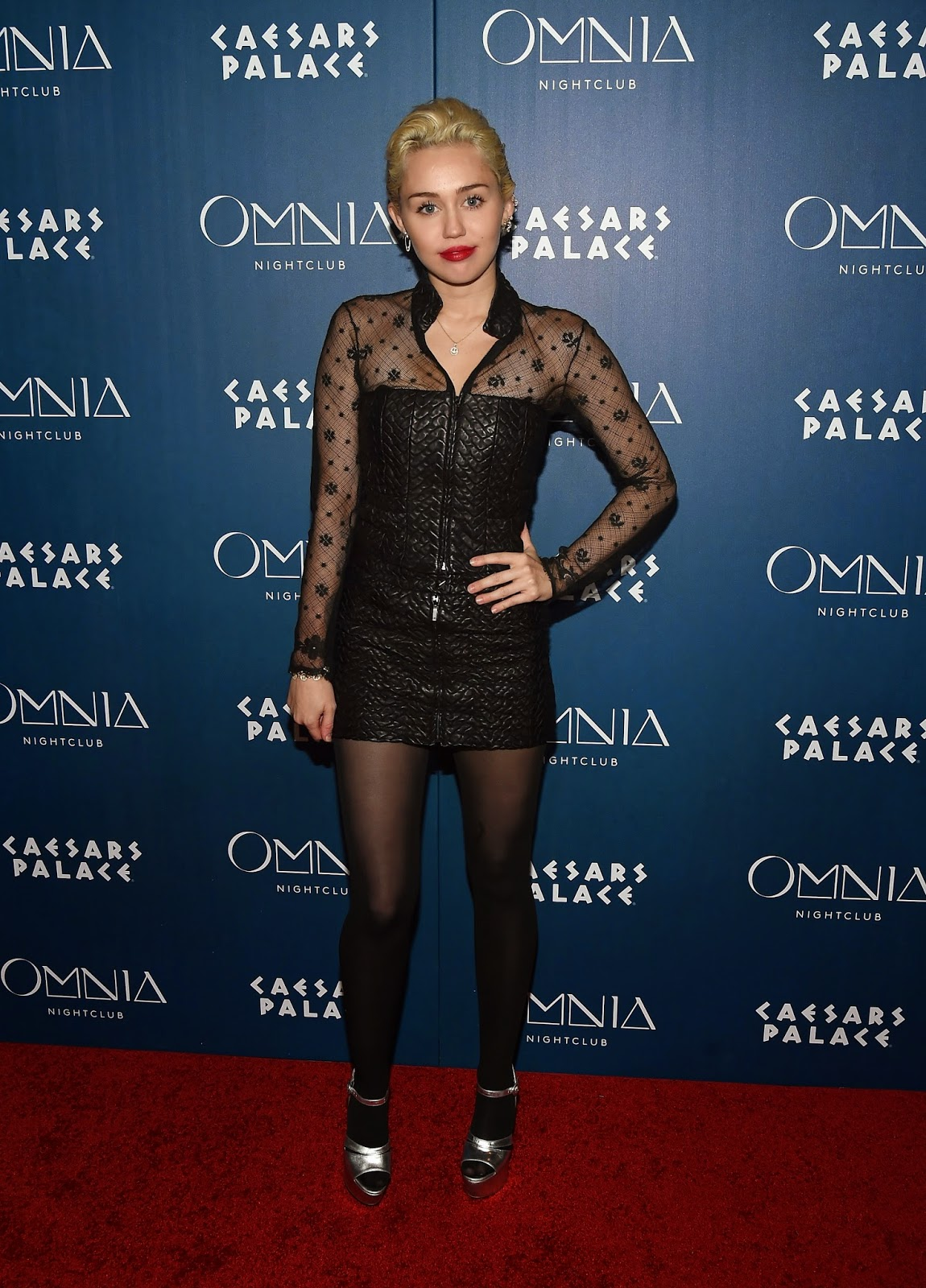 Singer, Actress @ Miley Cyrus - Omnia Nightclub at Caesars Palace in Las Vegas