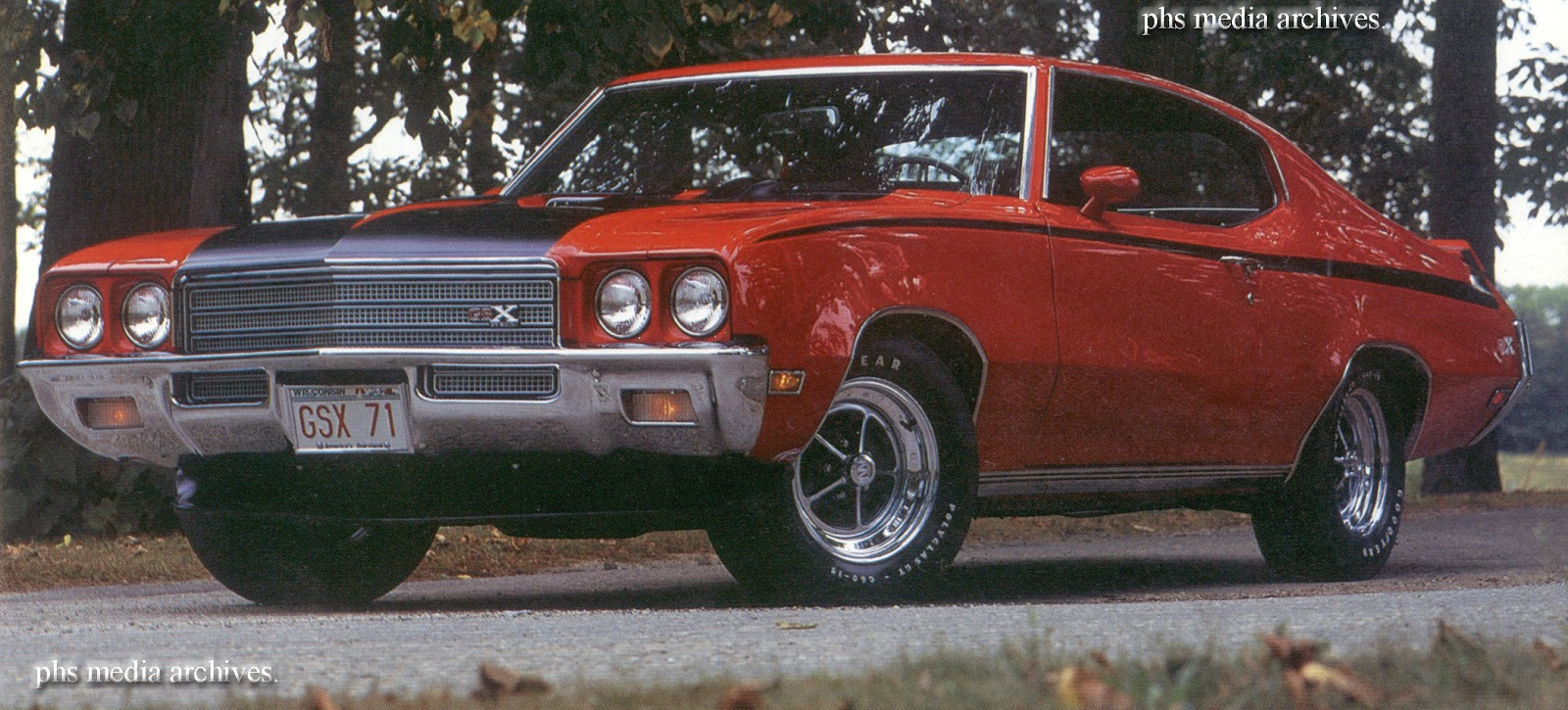 1971 72 Buick Gsx Flints Muscle Car In Retrograde Orbit Road Runner Wiring Diagram Odds Are Real Good Your Will Be Some Shade Of Green They Had About 3 Hues Available This 71 Is Fire Red