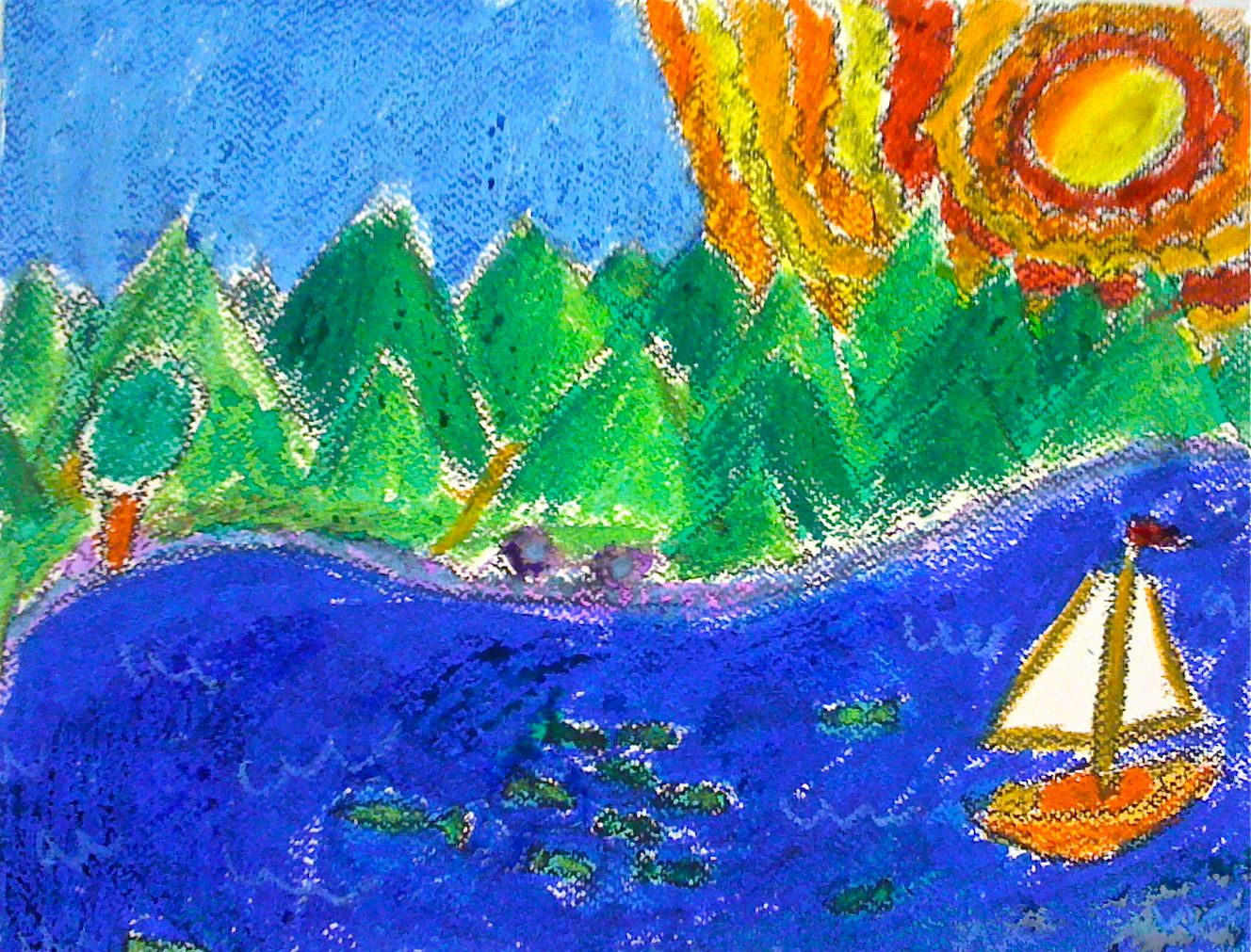 Kids Art Market: Warm and Cool Color Seascape with Hans Hoffman