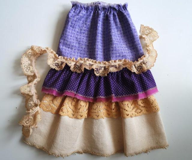Как сшить многослойную юбку для куклы тильда 27