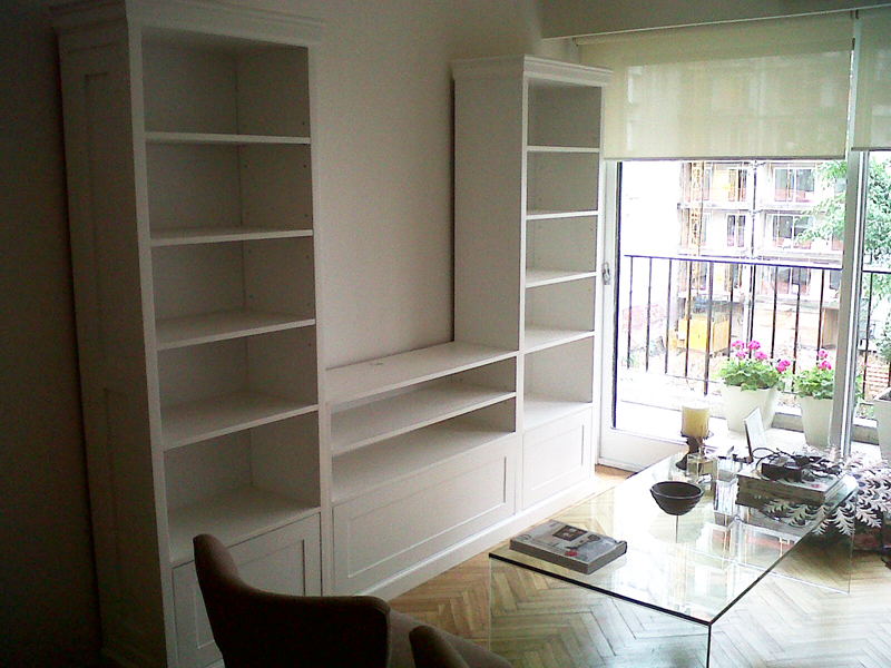 Tapa carpintero bibliotecas - Biblioteca madera blanca ...