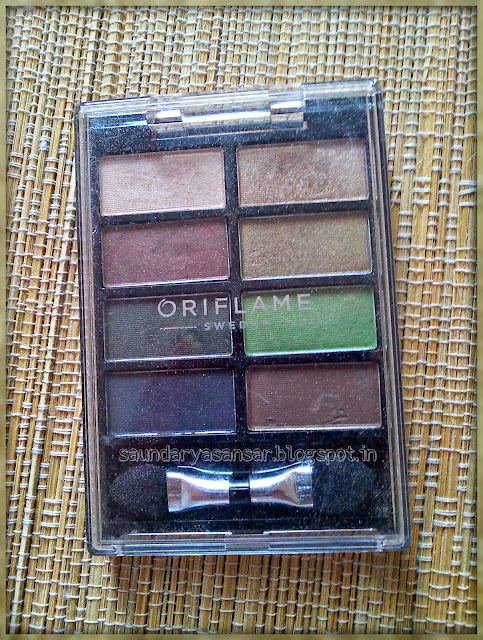 Oriflame Pure Colour Eye Shadow Palette in Sand & Green Review