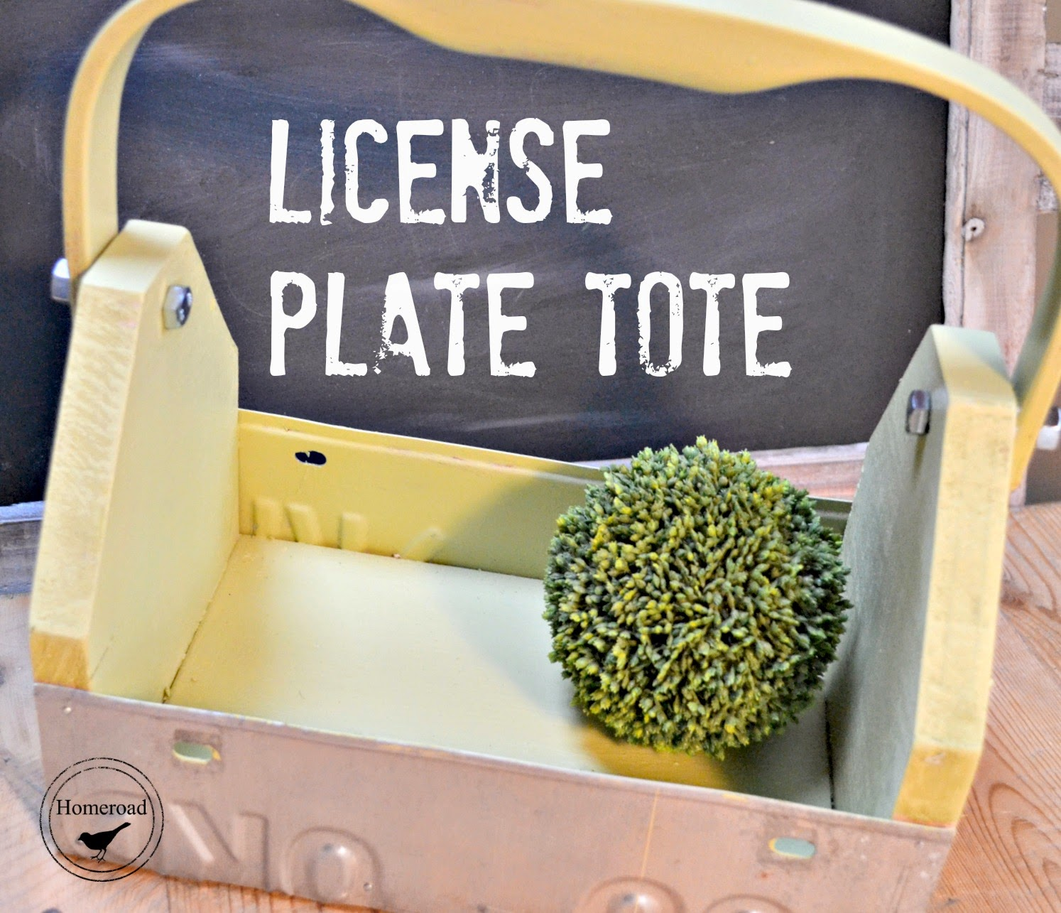 License Plate Garden Tote www.homeroad.net
