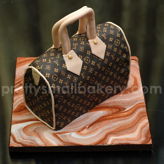 Kek hantaran bentuk beg, kek hari jadi bentuk bag
